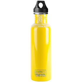 360° degrees Stainless Bidon 750ml, yellow